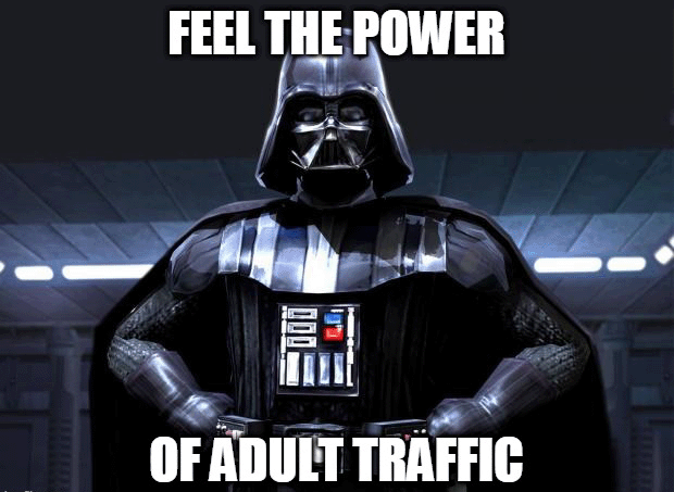 adult traffic join the dark side