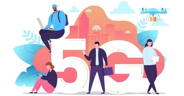 New technologies 5G network clipart