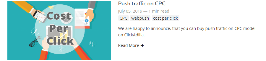buy push traffic on clicks