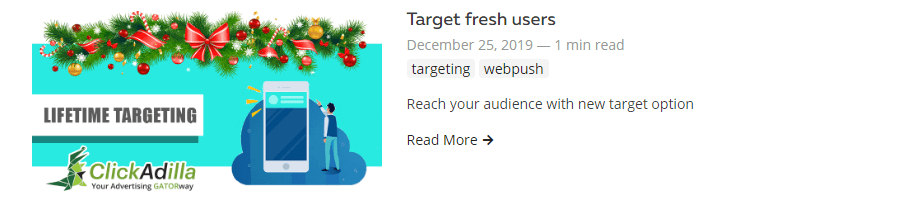 lifetime targeting web push