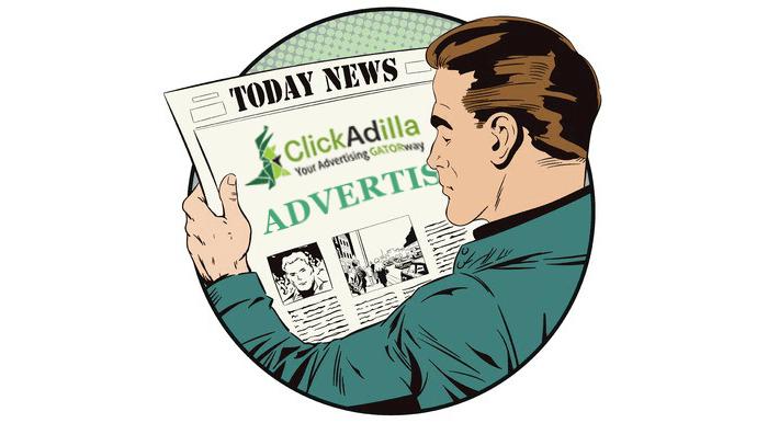 newspaper retro ads clipart