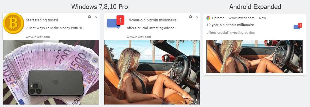 Web Push Creatives of Crypto offers